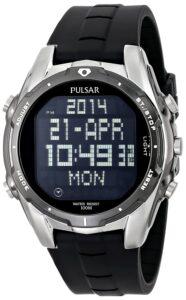 Top Ranke Watch - Pulsar Men's PQ2003 World Time Alarm Chronograph Black Urethane Strap Watch