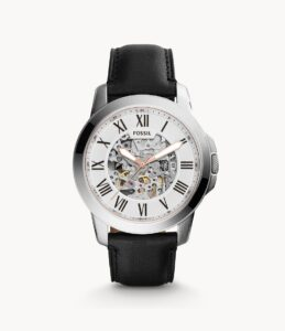 Top Ranke Watch - Fossil Grant Analog Off-White Dial Men's Watch - ME3099