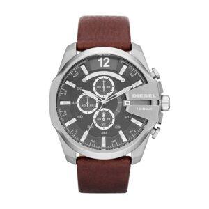 Top Ranke Watch - Diesel Mega Chief Analog Grey Dial Men's Watch - DZ4290