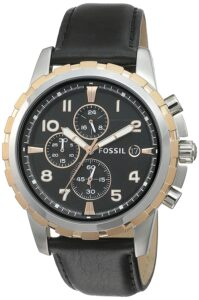 Top Ranke Watch - Fossil Chronograph Black Dial Men's Watch - FS4545