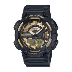 Top Ranke Watch - Casio Youth-Combination Analog-Digital Gold Dial Men's Watch - AEQ-110BW-9AVDF (AD206)