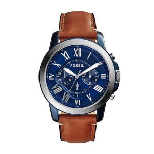 Top Ranke Watch - Fossil Grant Chronograph Blue Dial Men's Watch - FS5151