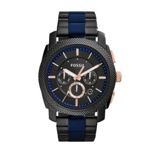 Top Ranke Watch - Fossil Chronograph Black Dial Men's Watch - FS5164
