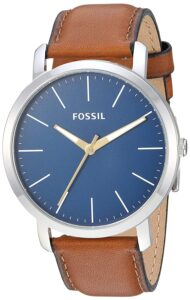 Top Ranke Watch - Fossil Analog Blue Dial Men's Watch-BQ2311