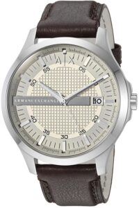 Top Ranke Watch - Armani Exchange Analog Off-White Dial Men's Watch - AX2100