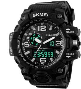Top Ranke Watch - SKMEI Analog Digital Quartz Men's Watch with Silicone Strap - AD1155