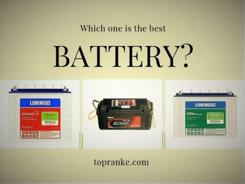 Top 7 Best Inverter Batteries In India
