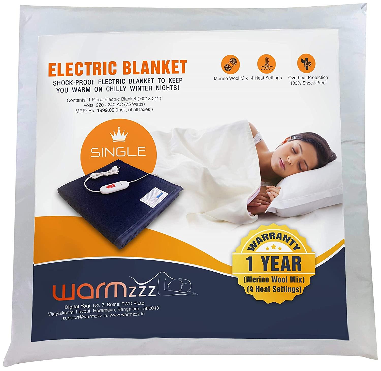Warmzzz Wool Electric Blanket