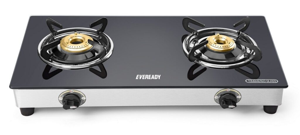 Eveready Glass Top 2 Burner Gas Stove