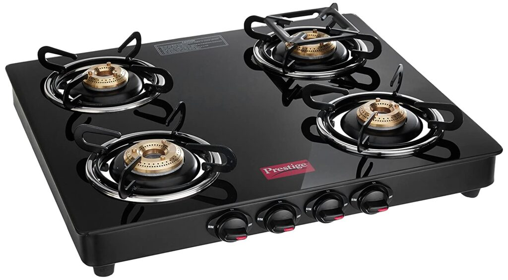 Prestige Marvel Glass Top 4 Burner Gas Stove