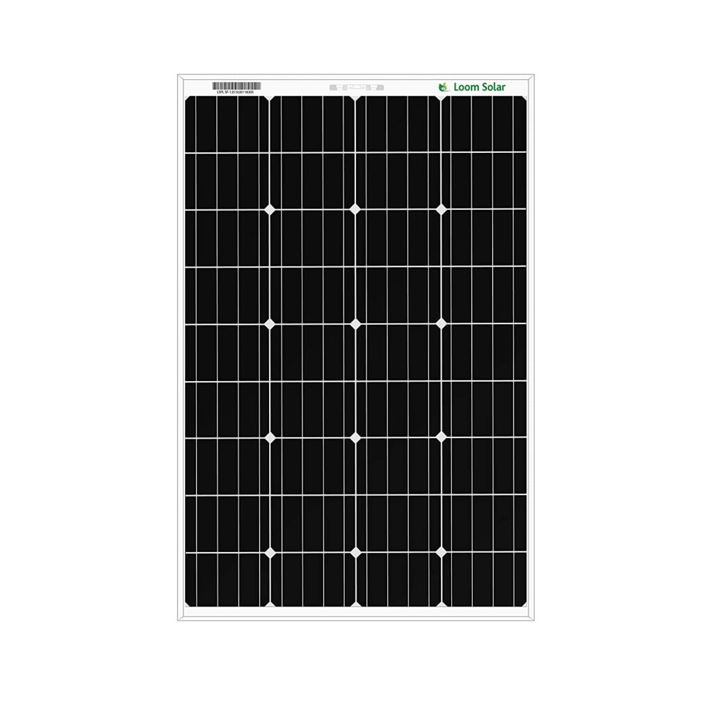 Loom Solar 125 Watt – 12V Mono-crystalline panel