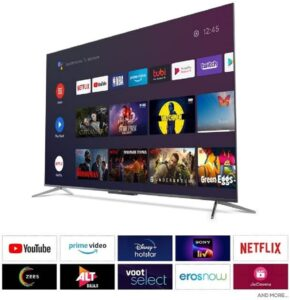 TCL 125.7 cm (50 inches) 4K Ultra HD Certified Android Smart QLED TV