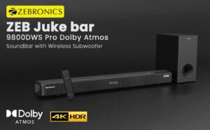 ZEBRONICS Zeb-Juke Bar 9800DWS Pro Dolby Atmos Soundbar