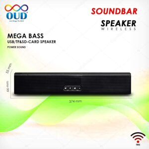 OUD Digital Wireless 10W 1200mAh Bluetooth Sound Bar