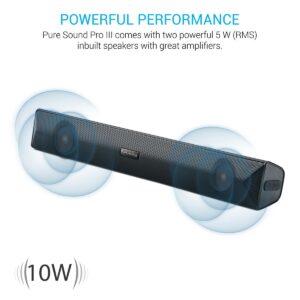 Portronics Pure Sound Pro III POR-891, Bluetooth 4.2 an All-in-One Versatile Wireless SOUNDBAR