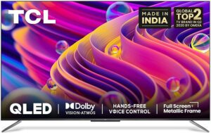 TCL 138.7 cm (55 inches) 4K Ultra HD Certified Android Smart QLED TV