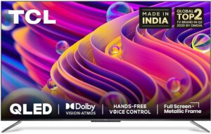 TCL 163.9 cm (65 inches) 4K Ultra HD Certified Android Smart QLED TV