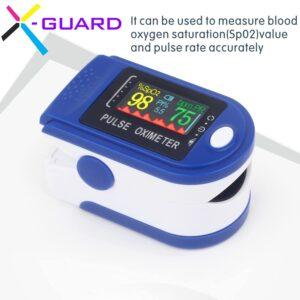 X Guard Pulse Oximeter, Digital Pulse Oxygen Meter Fingertip to Check Blood Oxygen Level
