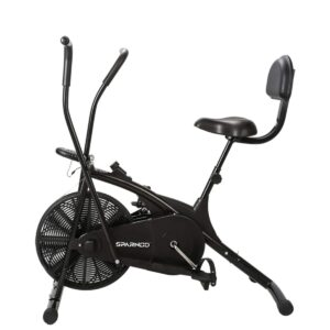 Sparnod Fitness SAB-05 Air Bike Exercise Cycle for Home Gym - Dual Action for Full Body Workout (Setting for Moving/Stationary Handles) - Adjustable...
