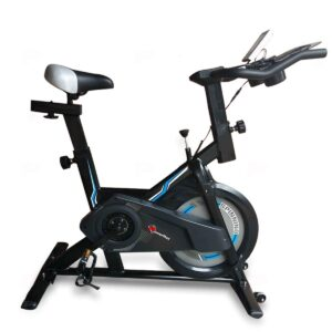 PowerMax Fitness BS-150 Exercise Spin Bike With 10KG Flywheel, iPad & Bottle holder, Heart Rate Sensors For Home Workout